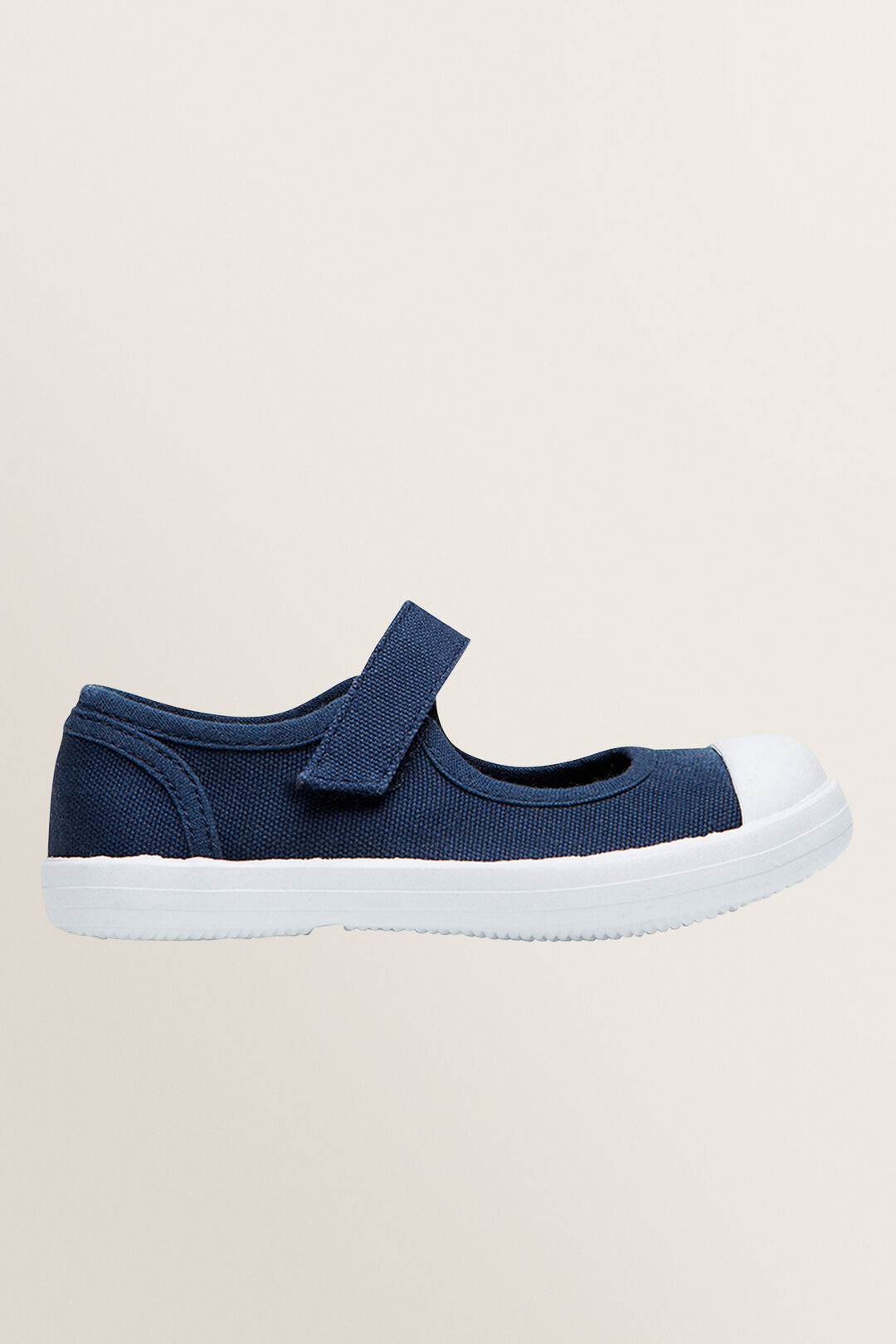 Mary-Jane Canvas Shoes  Navy  hi-res