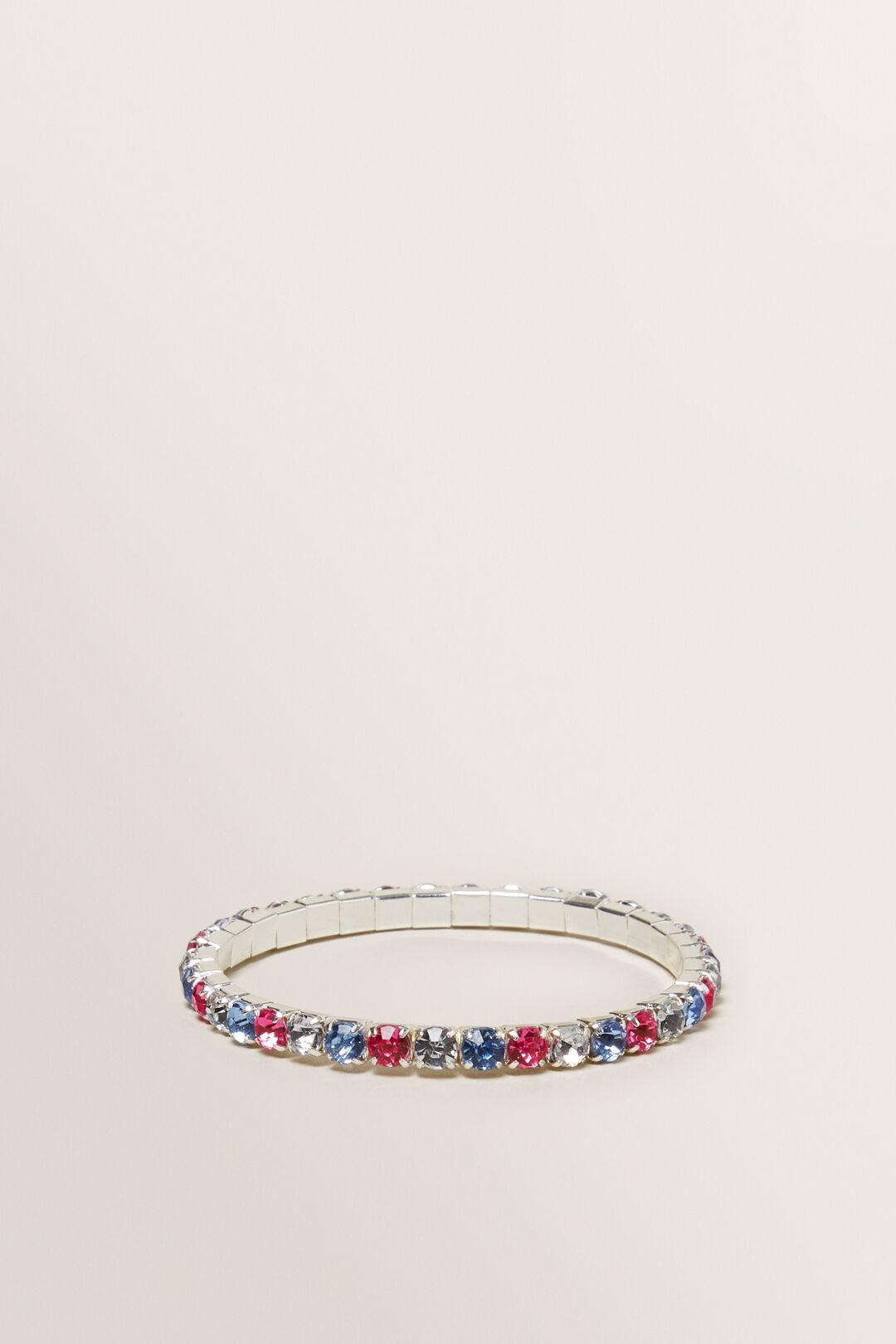 Diamante Stretch Bracelet  Multi  hi-res