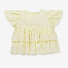 Seersucker Frill Top  LEMONADE  hi-res