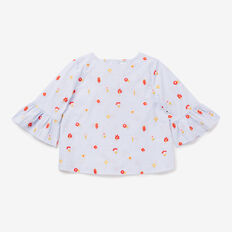 Floral Embroidered Top  BLUEBELL  hi-res