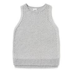 Crochet Sleeveless Knit  CLOUD/WHITE  hi-res