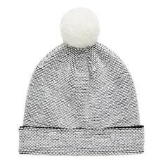 Textured Knit Beanie  CANVAS  hi-res