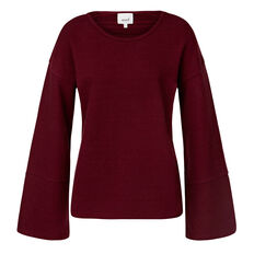 Slouchy Textured Top  PLUM  hi-res