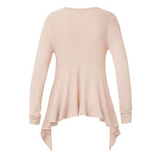 Frill Back Sweater  DUSTY BLUSH  hi-res