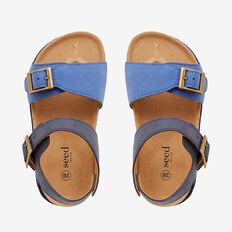 Colour Block Sandal  BLUE  hi-res