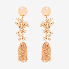 Ball Chain Earrings  GOLD  hi-res