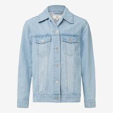 Slouch Denim Jacket  POWDER BLUE  hi-res