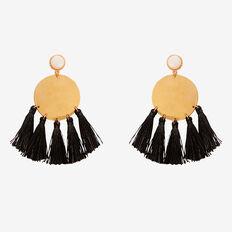 Disc Tassel Earrings  GOLD  hi-res