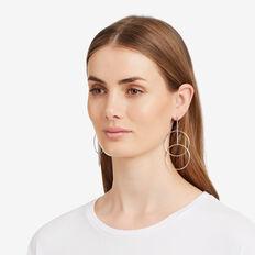Linked Circle Earrings  SILVER  hi-res