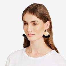Pompom Disc Earrings  GOLD  hi-res