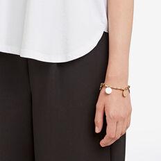 Beaded Disc Bracelet  GOLD  hi-res