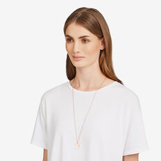 Duo Disc Necklace  ROSE GOLD  hi-res