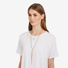 Suede Layered Necklace  GOLD/NATURAL  hi-res