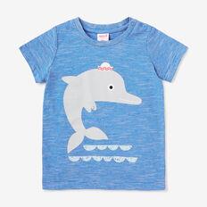 Dolphin Print Tee  DEEP BLUE  hi-res