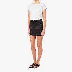 Frayed Denim Mini Skirt  WASHED BLACK  hi-res