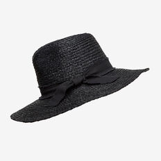 Black Raffia Panama  BLACK  hi-res