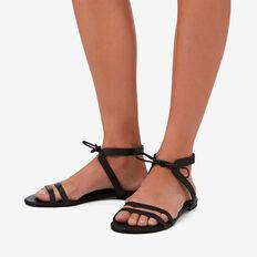 Alexa Tie Sandal  BLACK  hi-res