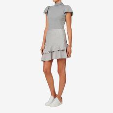 Asymmetric Frill Skirt  SILVER DUST  hi-res