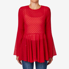 Dobby Blouse  BOLD RED  hi-res