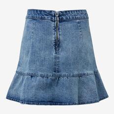 Frill Denim Skirt  BRIGHT WASH  hi-res