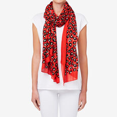 Ocelot Scarf  DUSTY RED  hi-res