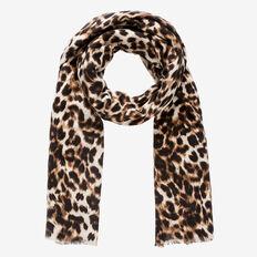 Classic Leopard Scarf  NATURAL  hi-res