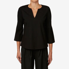 Ponte Flared Sleeve Top  BLACK  hi-res