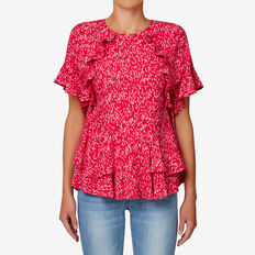 Layered Frill Top  BLURRED SPOT  hi-res
