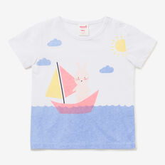 Bunny Boat Tee  WHITE  hi-res