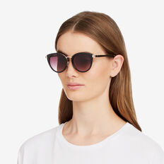 Riley Cats Eye Sunglasses  BLACK  hi-res