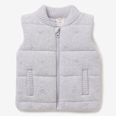 Spot Knit Vest  CLOUD  hi-res