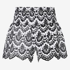 Broderie Short  WHITE/BLACK  hi-res