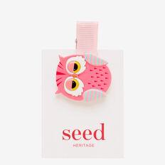 Sleepy Owl Snap  PINK  hi-res