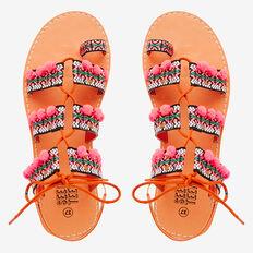 Pom Pom Tape Sandal  MULTI  hi-res