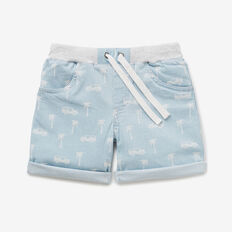 Chambray Print Short  CHAMBRAY  hi-res