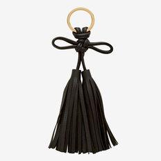 Bow Tassel Keyring  BLACK  hi-res