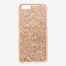 Metallic Crackle Phone Case 6  ROSE GOLD  hi-res