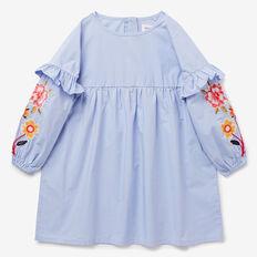 Floral Embroidered Dress  BLUEBELL  hi-res