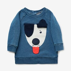 Raglan Puppy Sweat  WASHED INDIGO  hi-res