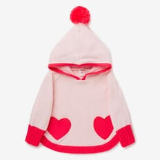 Heart Poncho  ICE PINK  hi-res