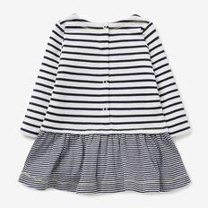 Stripe Double Knit Dress  NAVY  hi-res