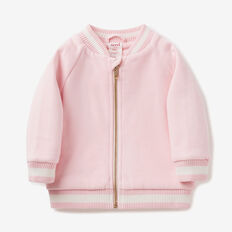 Embroidered Bomber  ICE PINK  hi-res