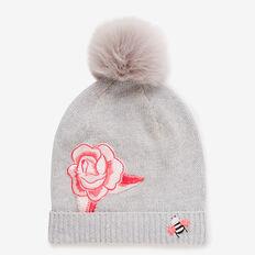 Rose Patch Beanie  CLOUD MARLE  hi-res