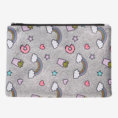 Fun Food Zip Case  SILVER  hi-res