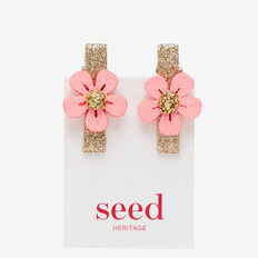 Mini Flower Duck Clips  ICE PINK  hi-res