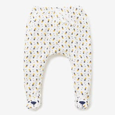 Bear Face Footed Legging  CANVAS  hi-res