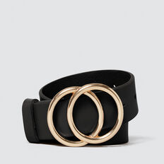 Double Ring Belt  BLACK  hi-res