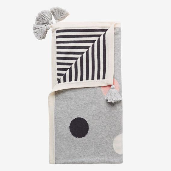 Knit Polka Dot Blanket  MULTI  hi-res