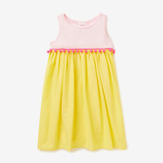 Splice Pom Pom Dress  LEMONADE  hi-res