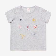 Embroidered Tee  CLOUD  hi-res